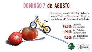 Ruta ciclista y cata de tomates (domingo, 7)
