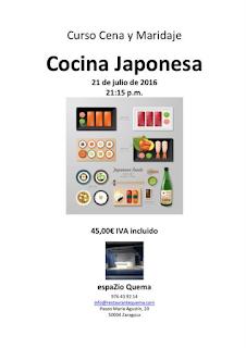 Curso, cena y maridaje de cocina japonesa (jueves, 21)