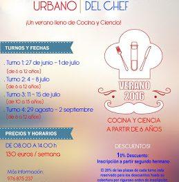 Campamento urbano El laboratorio del Chef (del 4 al 7 y de 11 al 15 de julio; del 29 de agosto al 2 de septiembre)