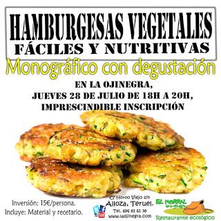 ALLOZA. Monográfico de hamburguesas vegetales (jueves, 28)