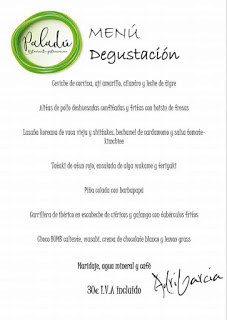 Nuevo menú degustación en Paladú (julio)
