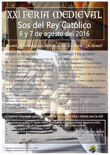 SOS DEL REY CATÓLICO. Feria Medieval (sábado, 6, y domingo, 7)