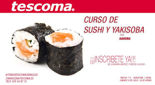 Taller de sushi y yakisoba (sábado, 9)
