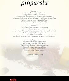Nuevo menú en UROLA por 17 euros (agosto)