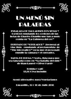 UNCASTILLO. Menú Sin palabras en el restaurante UNCASTELLO (días 15 y 16)