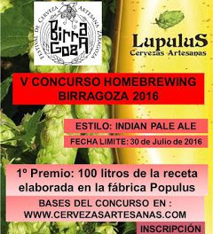 Concurso de Cerveza Artesana (hasta el 30 de julio)