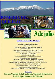 TARAZONA. Romería del Quililay (domingo, 3)