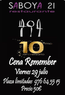 TARAZONA. Cena Remember (viernes, 29)