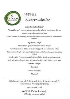 Nuevo menú degustación en Paladú (agosto)