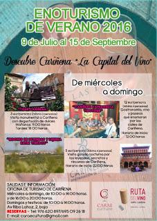 CARIÑENA. Enoturismo (hasta el 15 de septiembre)