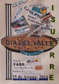 ISUERRE. Día del Valle Bal D'onsella (lunes, 15)