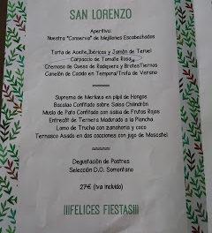 HUESCA. Menú de san Lorenzo en DOMMO (del 8 al 14)