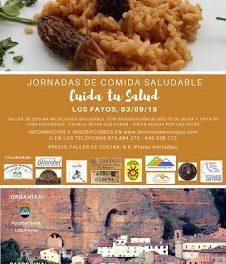 LOS FAYOS. Jornadas de comida saludable (sábado, 3 de septiembre)