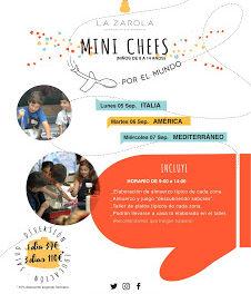 Curso Mini chefs por el mundo en LA ZAROLA (del 5 al 7)