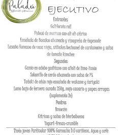 Nuevo menú ejecutivo en Paladú (agosto)