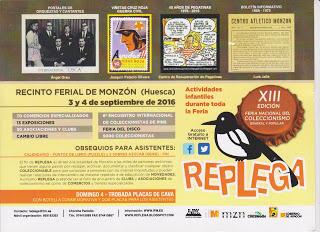 MONZÓN. Replega, feria del coleccionismo (días 3 y 4 de septiembre)
