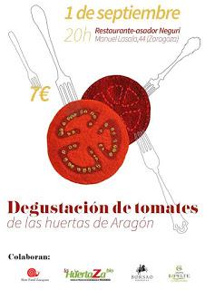 Degustación de tomates de las huertas de Aragón (jueves, 1)
