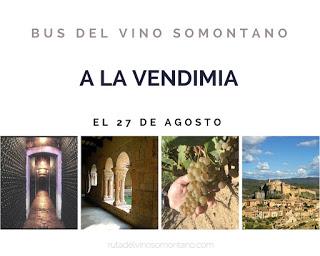 Excursión bus del vino Somontano (sábado, 27)