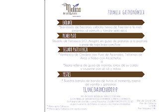 Fórmula gastronómica en el MOLINO DE SAN LÁZARO, por 18 euros (hasta finales de septiembre)
