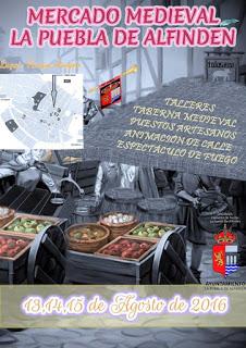 LA PUEBLA DE ALFINDÉN. Mercado medieval (del 13 al 15 de agosto)