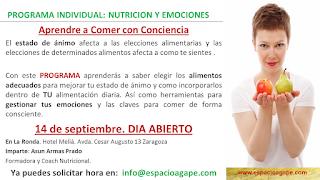 "Charla ""Aprende a comer con conciencia"" (miércoles, 14)"