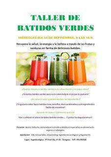 Taller de batidos verdes (miércoles, 14)