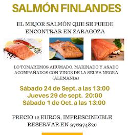 Degustación de salmón finlandés (jueves, 29, y sábado, 1)
