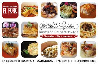 Jornadas Nuestros mejores platos en EL FORO (septiembre)
