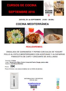 Taller de cocina mediterránea (jueves, 29)