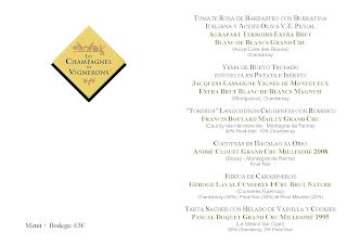Cata cena maridada de champagnes de vignerons en LOS CABEZUDOS (jueves, 29)