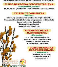 Curso de cocina vegetariana (martes, 13, 20, 27 y 4 de octubre)