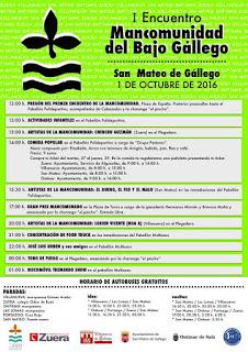 SAN MATEO DE GÁLLEGO. Encuentro Mancomunidad del Bajo Gállego (sábado, 1)