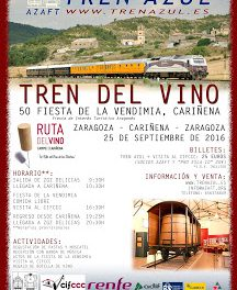 CARIÑENA. Tren del vino (domingo, 25)