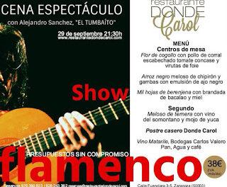 Cena y flamenco (jueves, 29)