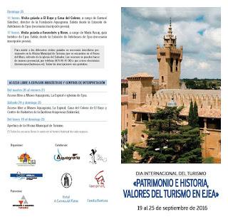 EJEA DE LOS CABALLEROS. Día internacional del turismo (del 19 al 25 de septiembre)