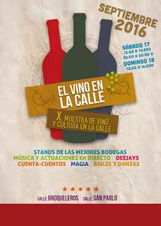 X Muestra de vino y cultura en la calle (sábado y domingo, 17 y 18)