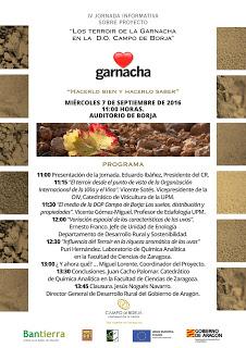 """BORJA. IV Jornada informativa del proyecto """"Los terroir de la garnacha"""" (miércoles, 7)"""