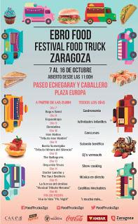 Ebro Food. Festival Food Truck Zaragoza (del 7 al 16 de octubre)