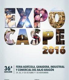 CASPE. ARAGÓN CON GUSTO. Expo Caspe (del 29 de octubre al 1 de noviembre)