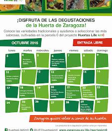 Degustación de la huerta de Zaragoza (martes, 18)