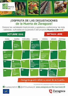 Degustación de la huerta de Zaragoza (jueves, 13)