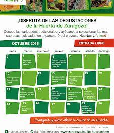 Degustación de la huerta de Zaragoza (sábado, 22)