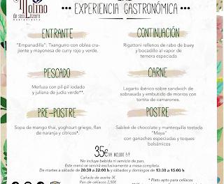 Menú EXPERIENCIA GASTRONÓMICA en el MOLINO DE SAN LÁZARO por 35 euros (hasta finales de diciembre)