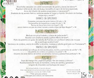 Menú FÓRMULA MOLINO en el MOLINO DE SAN LÁZARO por 15 euros (hasta finales de diciembre)