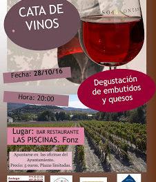 FONZ. Cata de vinos, quesos y embutidos (viernes, 28)