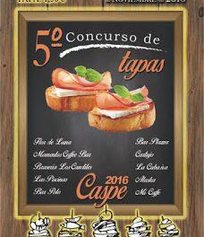 CASPE. V Concurso de Tapas (fines de semana del 11 y 18 de noviembre)