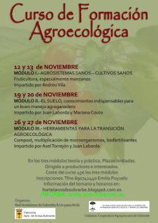 AÍNSA. Curso de Formación Agroecológica (fines de semana de noviembre)