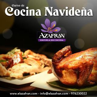 Curso de cocina navideña II en AZAFRÁN (del martes, 22, al jueves, 24)