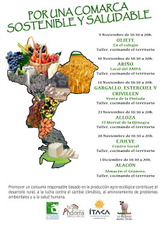 """ANDORRA Y SIERRA LOS ARCOS. """"Por una comarca sostenible y saludable"""" (noviembre)"""