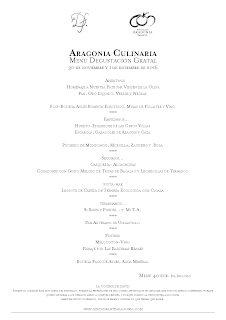 Aragonia Culinaria en ARAGONIA PALAFOX con el restaurante GRATAL (miércoles y jueves, 30 y 1)